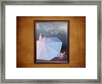 In A Scene In A Dream That's So Far Away Framed Print by Gate Gustafson