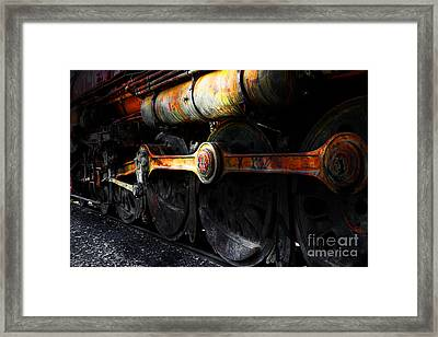 In A Time When Steam Was King 5d25491 V1 Framed Print by Wingsdomain Art and Photography