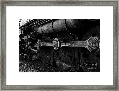 In A Time When Steam Was King 5d25491 V2 Black And White Framed Print by Wingsdomain Art and Photography
