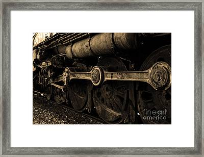 In A Time When Steam Was King 5d25491 V2 Sepia 1 Framed Print by Wingsdomain Art and Photography
