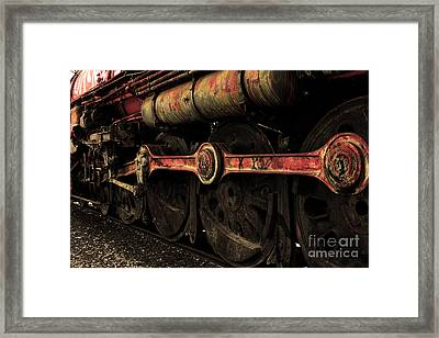 In A Time When Steam Was King 5d25491 V2 Sepia 2 Framed Print by Wingsdomain Art and Photography