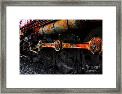 In A Time When Steam Was King 5d25491 V2 Framed Print by Wingsdomain Art and Photography