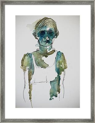 In A Trance Framed Print by Tina Pitsiavas
