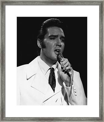 White Suit Elvis  Framed Print by Retro Images Archive