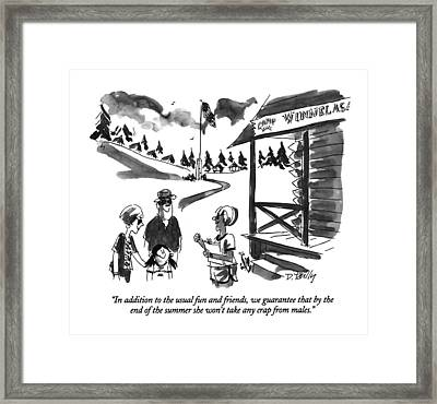 In Addition To The Usual Fun And Friends Framed Print