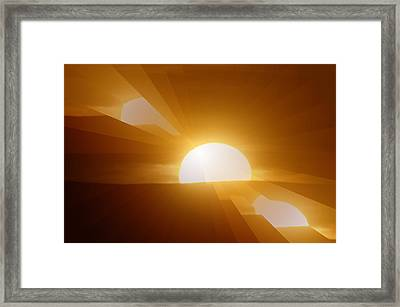 In All The Glory Framed Print by Jeff Swan