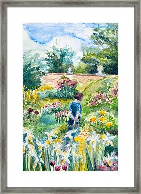 In An English Cottage Garden Framed Print