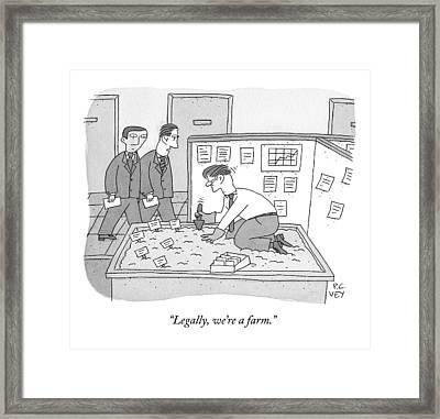 In An Office Framed Print