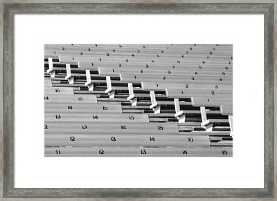 In An Orderly Fashion Framed Print