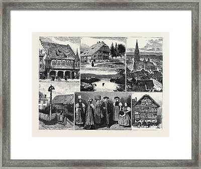 In And About The Black Forest 1. The Merchants Hall Framed Print by English School