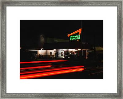 In And Out In Pasadena Framed Print