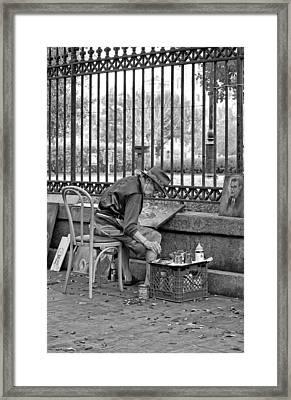 In Another World Monochrome Framed Print by Steve Harrington