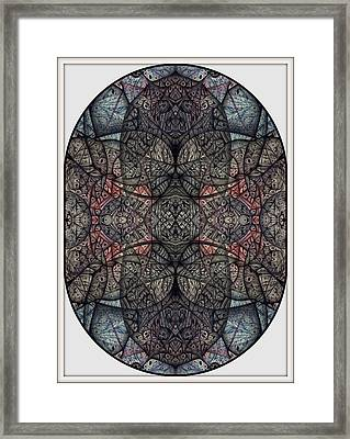 In Anticipation Of A Continuum Two A Digitized Ballpoint Framed Print by Jack Dillhunt