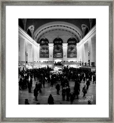 In Awe At Grand Central Framed Print