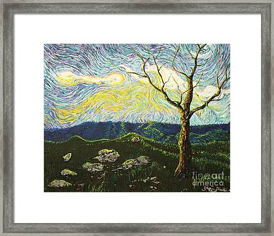 In Between A Rock And A Heaven Place Framed Print