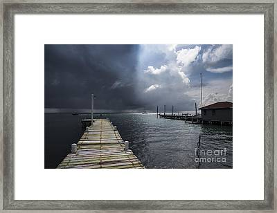 In Between Light And Shadows Framed Print