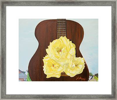 In-between Notes Framed Print by Joseph Demaree