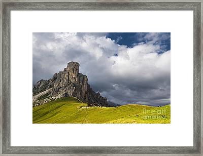 In Between Peaks And Clouds Framed Print