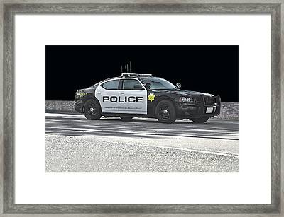 In Black And White Framed Print by Dave Koontz