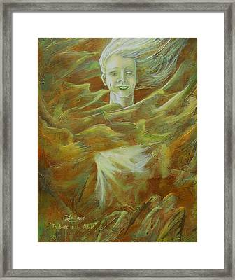 In Bliss Is The Magic Framed Print by Lori Salisbury