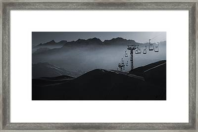 Framed Print featuring the photograph In Blue #2 by Antonio Jorge Nunes