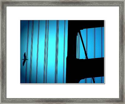 In Blue Framed Print by Cher Ferroggiaro