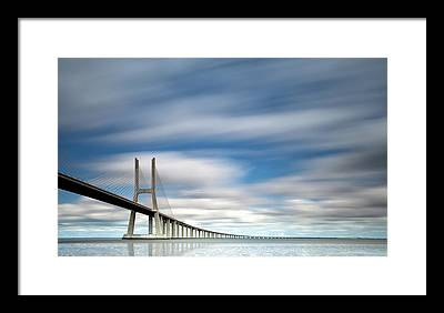 Vasco Da Gama Bridge Framed Prints