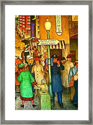 In Blue To Serve And Protect Framed Print