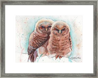 In Cahoots Framed Print