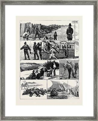 In Camp At Wimbledon 1. A Blow Out For Threepence 2 Framed Print