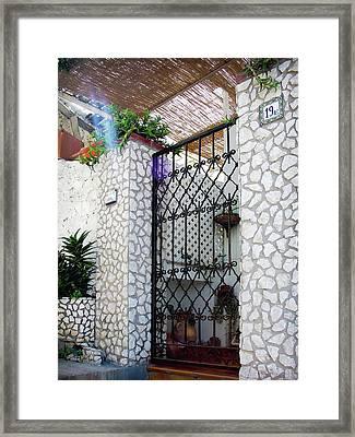 In Capri Framed Print