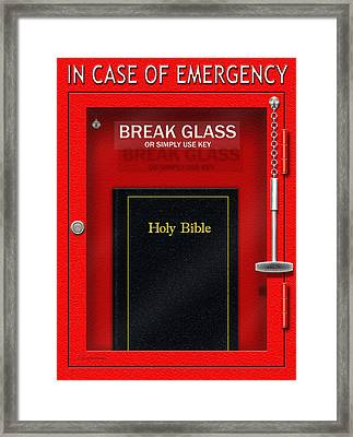 In Case Of Emergency Framed Print by Cristophers Dream Artistry