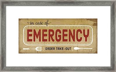 In Case Of Emergency Framed Print by Jennifer Pugh