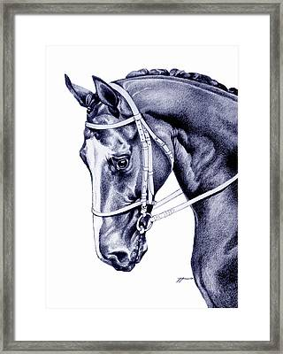 In Check Framed Print by Patricia Howitt