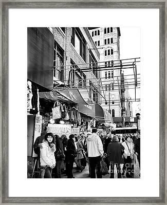 In Chinatown Framed Print by John Rizzuto