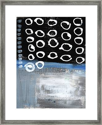 In Circles 2-abstract Painting Framed Print by Linda Woods