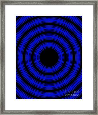 Framed Print featuring the painting In Circles- Blue Version by Roz Abellera Art