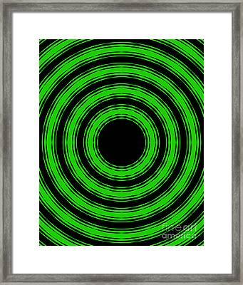 Framed Print featuring the painting In Circles-green Version by Roz Abellera Art