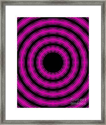 Framed Print featuring the painting In Circles-pink Version by Roz Abellera Art