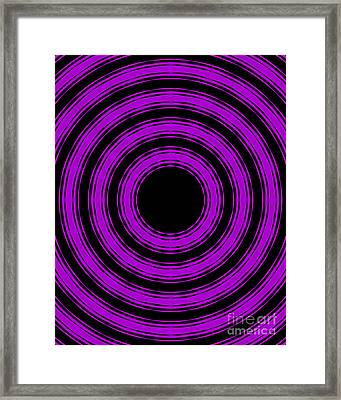 Framed Print featuring the painting In Circles-purple Version by Roz Abellera Art