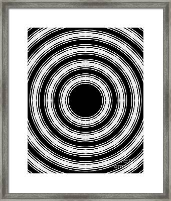 Framed Print featuring the painting In Circles by Roz Abellera Art
