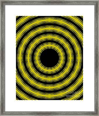 Framed Print featuring the painting In Circles- Yellow Version by Roz Abellera Art