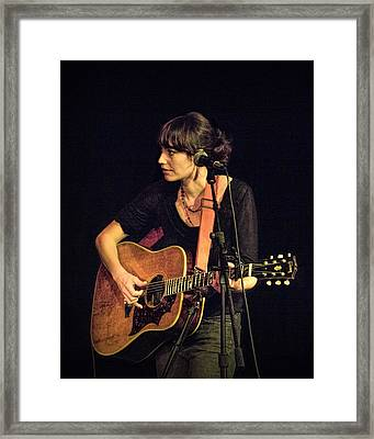 In Concert With Folk Singer Pieta Brown Framed Print