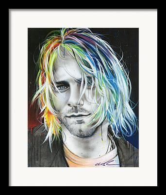Rainbow Hair Framed Prints
