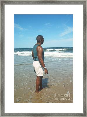 In Deep Thought Framed Print