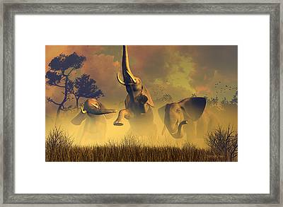 In Defense Of The Realm Framed Print by Dieter Carlton