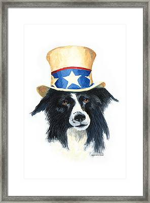 In Dog We Trust Framed Print by Jerry McElroy