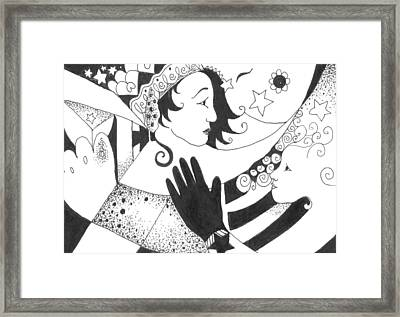 In Duality There Is No Light Without Dark Framed Print by Helena Tiainen