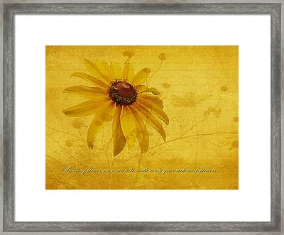 In Every Flower See A Miracle Framed Print by Mother Nature