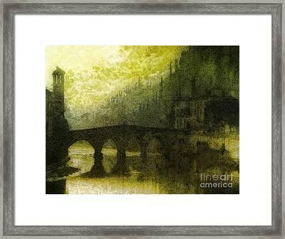 In Fair Verona Framed Print by Mo T